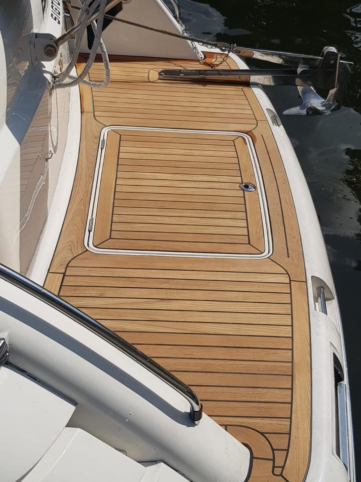 Ny massiv teak scandinavian yacht service